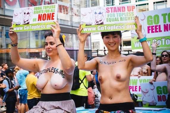 Topless in public in new york